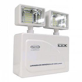 Iluminação emergência LED 3000 lúmens 2 faróis