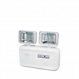 Iluminação emergência LED 2 faróis 600 lumens c/ bat. selada