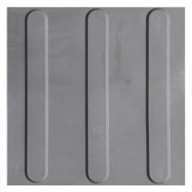 Piso Tátil Direcional Cinza claro 25x25cm