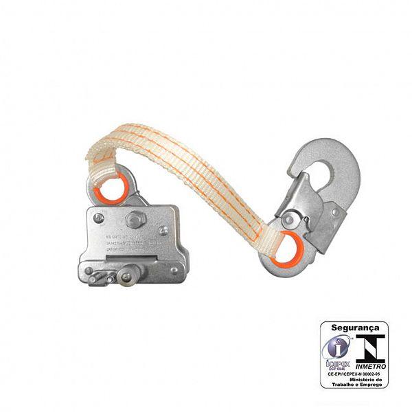 Trava-queda com fita/mosquetão para corda 12mm MG Cintos
