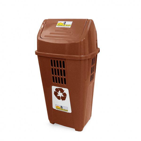 Lixeira ecológica 50L - Marrom (Resíduos orgânicos)