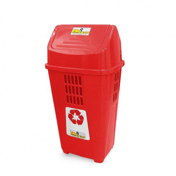 Lixeira ecológica 50L - Vermelha (Plástico)