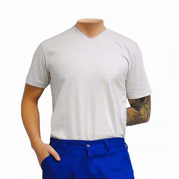 Camisa de malha, cinza gelo