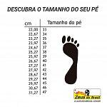Descubra o tamanho do seu pé