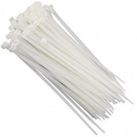 Abraçadeira de nylon branca 200 x 3,6mm com 100 pçs