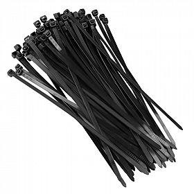 Abraçadeira de nylon preta 200 x 3,6mm com 100 pçs
