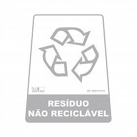Adesivo para lixeira com símbolo reciclável (resíduo não reciclável) 12,6 x 19,5 x 15,5cm