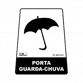 Adesivo porta guarda-chuva 12,6 x 19,5 x 15,5cm