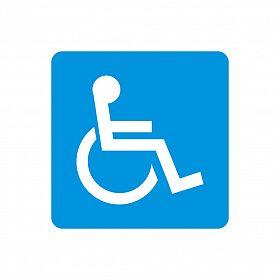Adesivo símbolo deficiente físico 10 x 10cm