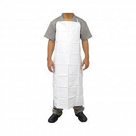 Avental PVC branco forrado com bainha 120x61 cm