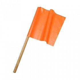 Bandeirola laranja 30cmx35cm com bastão de 60cm