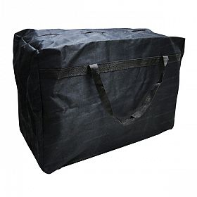 Bolsa em nylon preta 66x44x28cm
