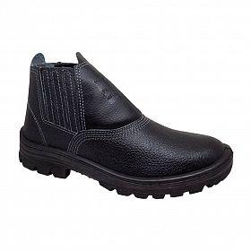 Botina de Segurança Cartom com elástico e Bico/Biqueira de PVC (sapatão)
