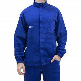 Camisa eletricista NR10 risco 2 azul royal classe 1 e 2 sem refletivo