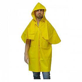 Capa chuva PVC for. tipo morcego - sem manga / amarela -