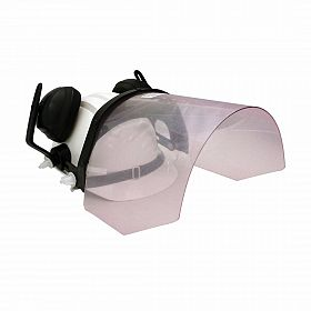 Capacete com protetor tipo fone 8db e protetor facial incolor -