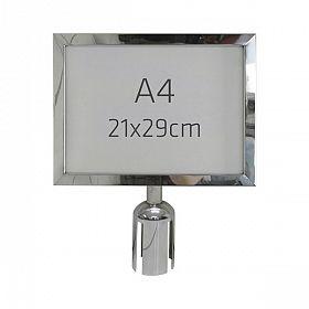 Display tamanho A4 para pedestal cromado
