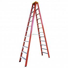 Escada tesoura dupla fibra vidro 3,60m