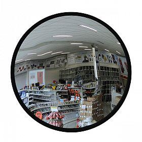 Espelho de segurança convexo c/ suporte 50cm borda/borracha