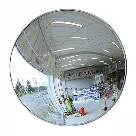 Espelho de segurança convexo c/ suporte 60cm borda/aluminio