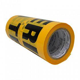 Faixa perigo alta tensão 25cmx50mx0,8 não adesiva