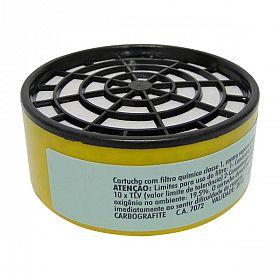 Filtro cartucho RC203 para vapores orgânicos e gases ácidos - 1 peça