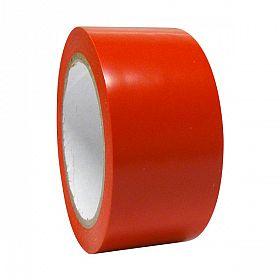 Fita adesiva demarcação solo 4,5cm x 30m vermelha