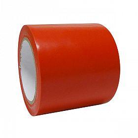 Fita adesiva demarcação solo 9,5cmx30m vermelha