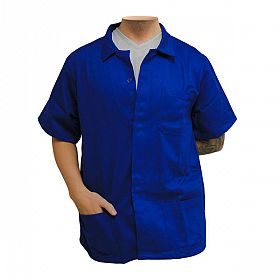 Jaleco curto brim leve azul royal