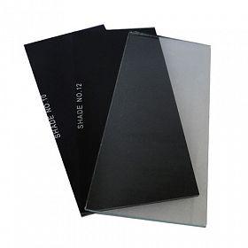 Lente retangular para máscara solda filtro luz 108x51 tonalidade10 - escura