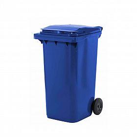 Lixeira contentor de lixo com rodas 240 litros modelo europeu azul escuro