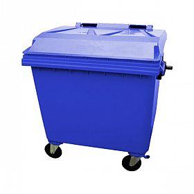 Lixeira container com rodas 1000 litros Azul