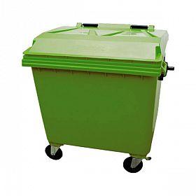 Lixeira container com rodas 1000 litros Verde