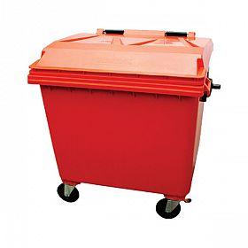 Lixeira container com rodas 1000 litros Vermelho