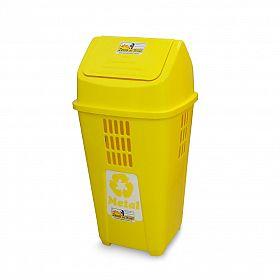 Lixeira ecológica 50L - Amarela (Metal)