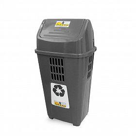 Lixeira ecológica 50L - Cinza (Rejeito/Resíduo não reciclável)