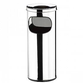 Lixeira redonda Cinzeiro/Papeleira em aço inox polido - 25 L