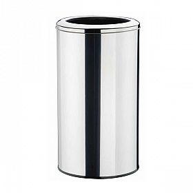 Lixeira redonda com aro em aço inox polido - 50L