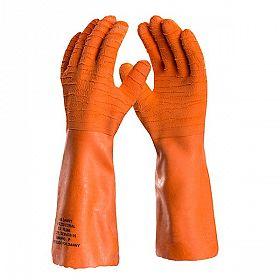 Luvas látex laranja forrada com algodão (até 150º )