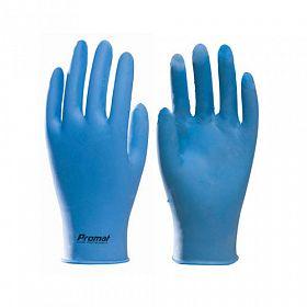 Luvas látex sintético nitrílico azul - caixa 100 luvas