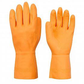Luvas látex super reforçada laranja forrada