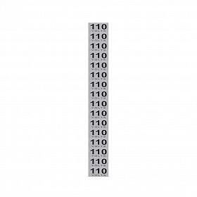 Placa 110 volts em alumínio 3,5 x 1,5cm