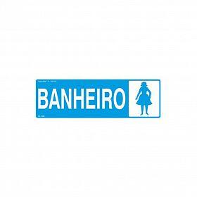 Placa banheiro mulher de PVC 30 x 10cm