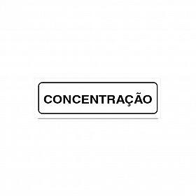 Placa concentração de PVC 19 x 6cm