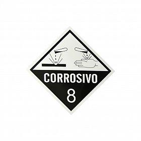 Placa corrosivo 8 de PVC 30 x 30cm
