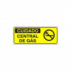 Placa cuidado central de gás de PVC 49,5 x 20cm
