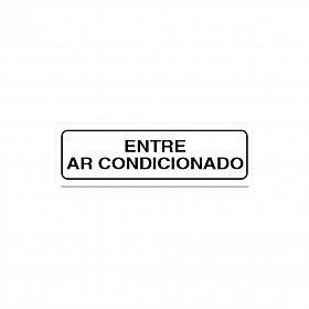 Placa entre ar condicionado de PVC 19 x 6cm