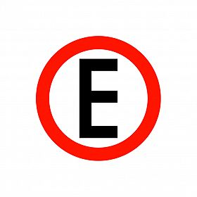 Placa estacionamento regulamentado de PVC 40 x 40cm