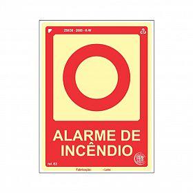 Placa fotoluminescente alarme de incêndio de PVC