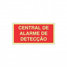Placa fotoluminescente central de alarme de detecção de PVC 24 x 12cm